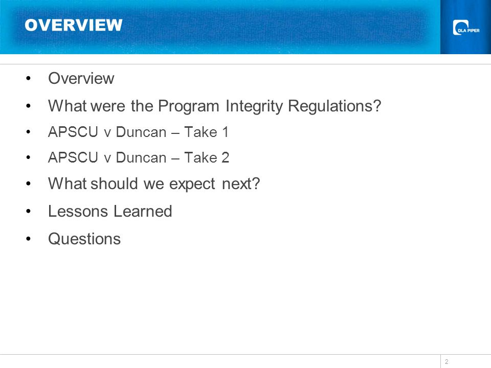 What were the Program Integrity Regulations