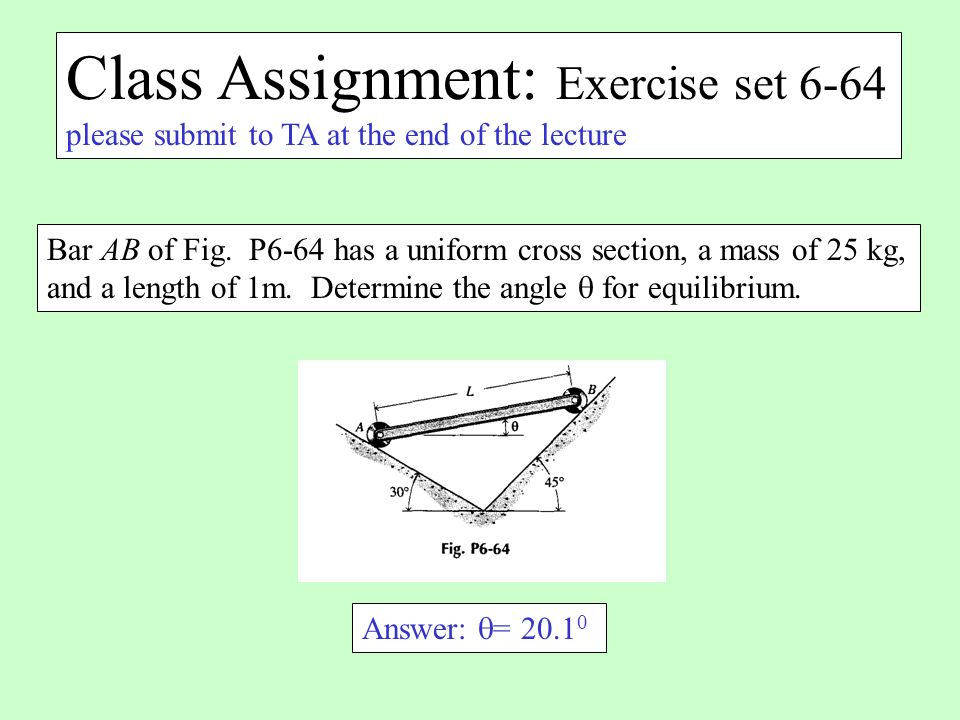 Class Assignment: Exercise set 6-64