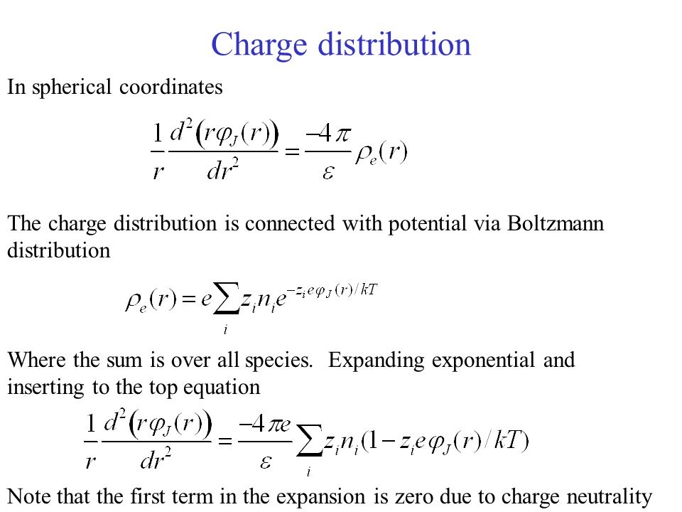 Charge distribution In spherical coordinates