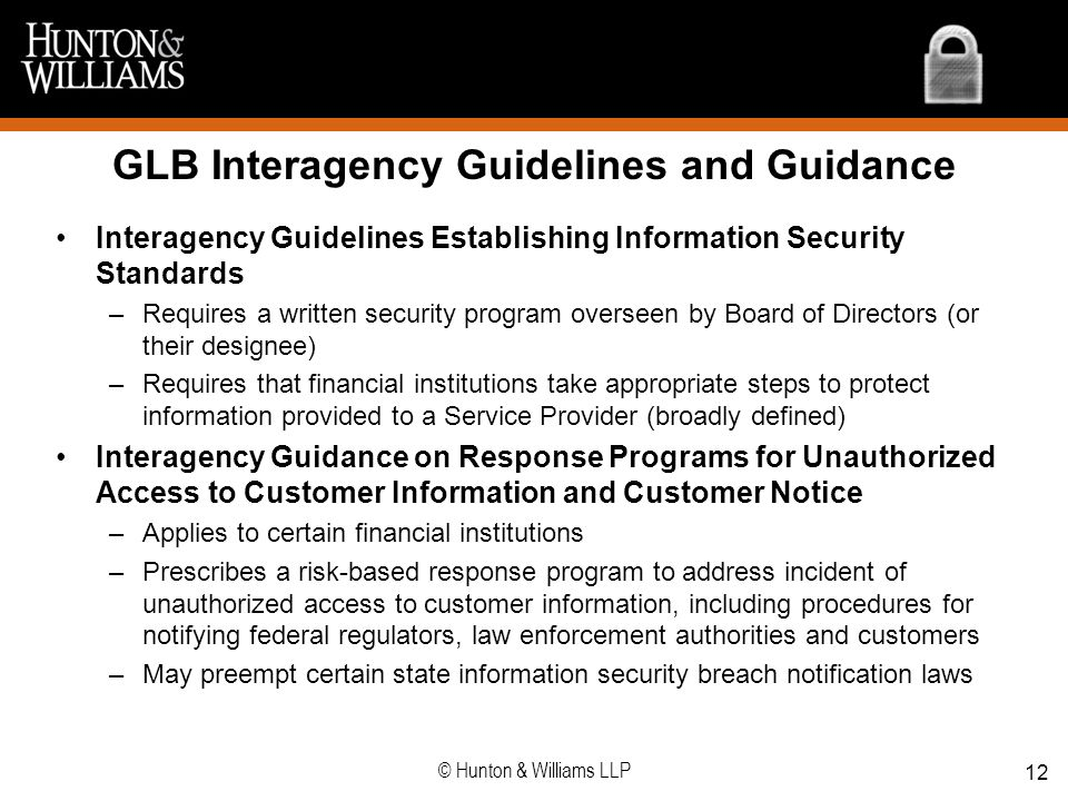 GLB Interagency Guidelines and Guidance