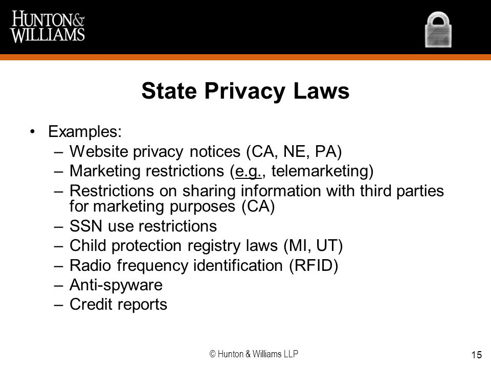 State Privacy Laws Examples: Website privacy notices (CA, NE, PA)