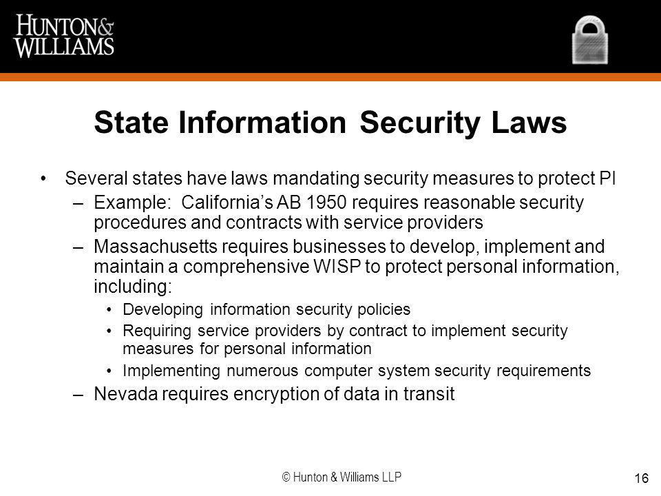 State Information Security Laws