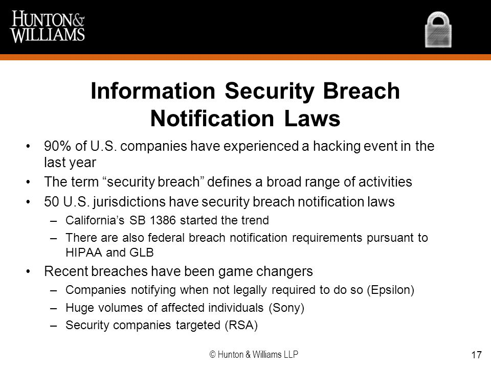 Information Security Breach Notification Laws