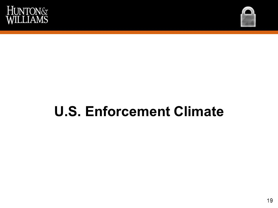 U.S. Enforcement Climate