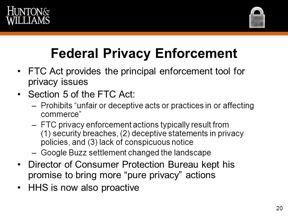 Federal Privacy Enforcement
