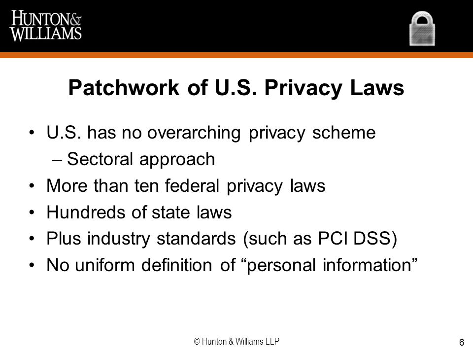 Patchwork of U.S. Privacy Laws