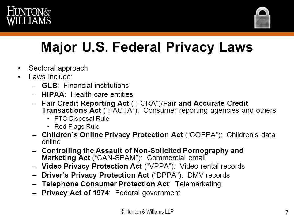 Major U.S. Federal Privacy Laws