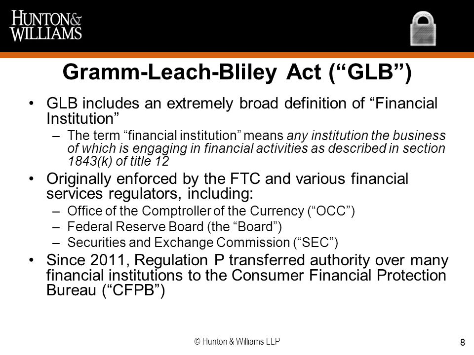 Gramm-Leach-Bliley Act ( GLB )