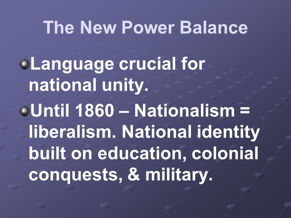 Language crucial for national unity.