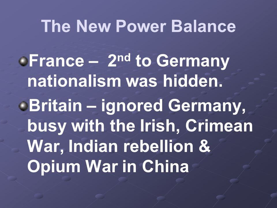 France – 2nd to Germany nationalism was hidden.
