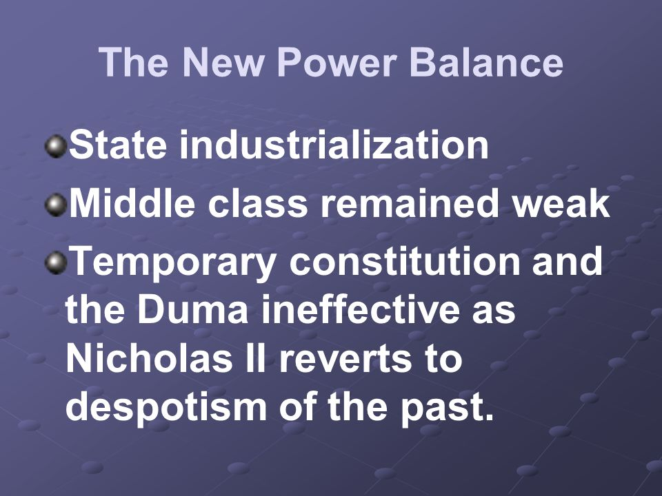State industrialization Middle class remained weak