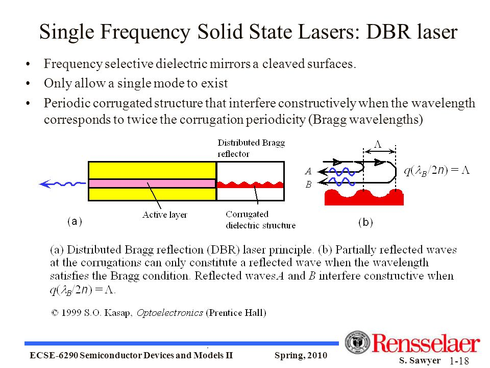 Single Frequency Solid State Lasers: DBR laser