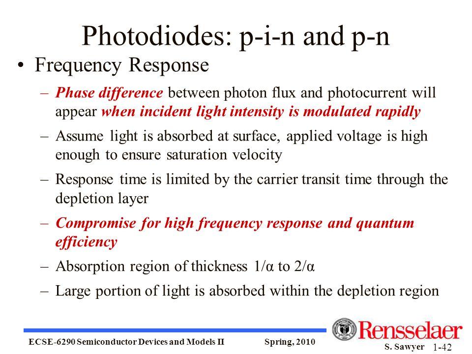 Photodiodes: p-i-n and p-n