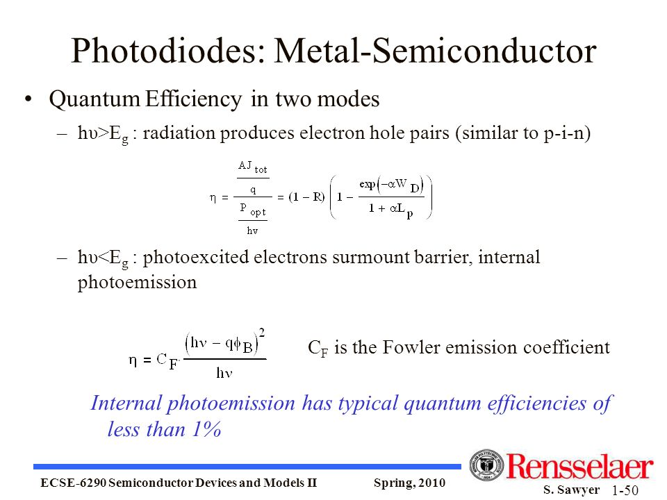 Photodiodes: Metal-Semiconductor
