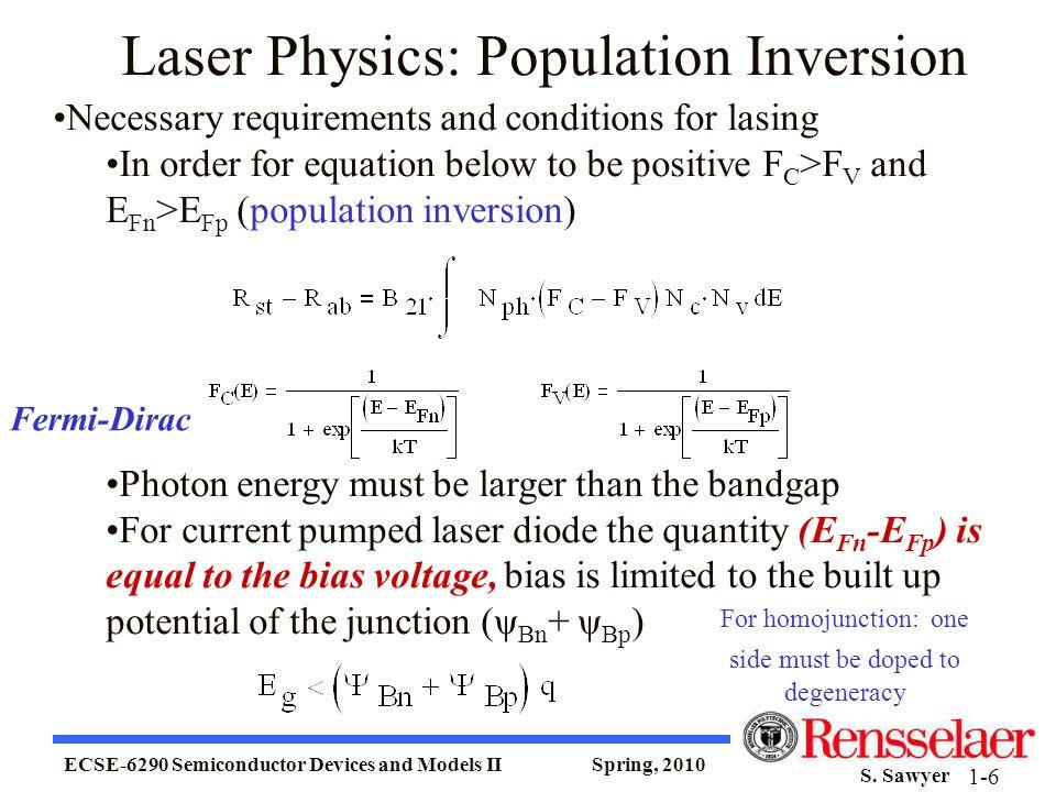 Laser Physics: Population Inversion
