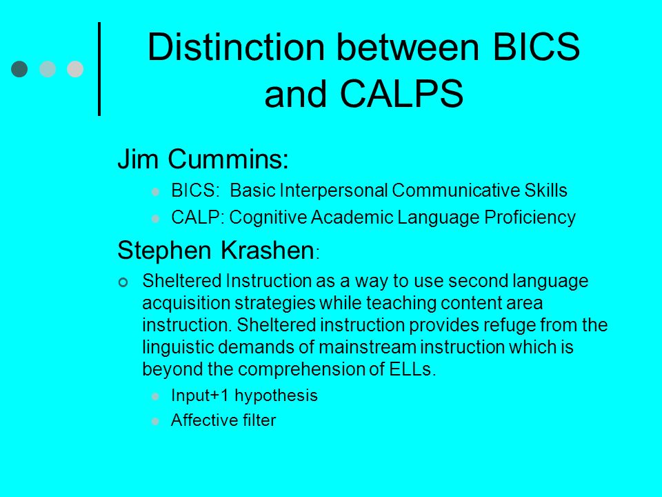 Distinction between BICS and CALPS