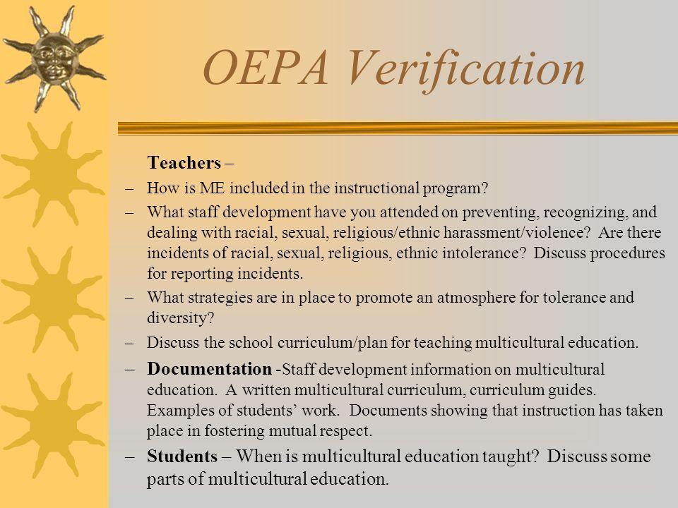 OEPA Verification Teachers –