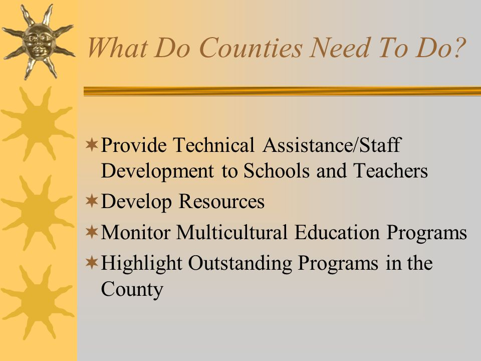 What Do Counties Need To Do