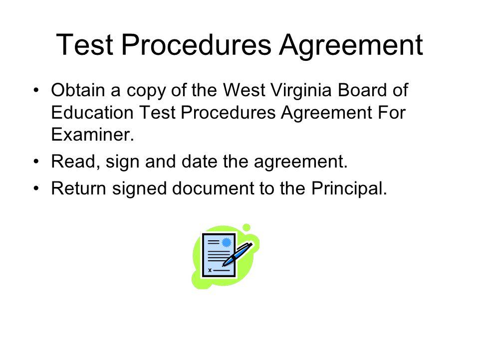 Test Procedures Agreement