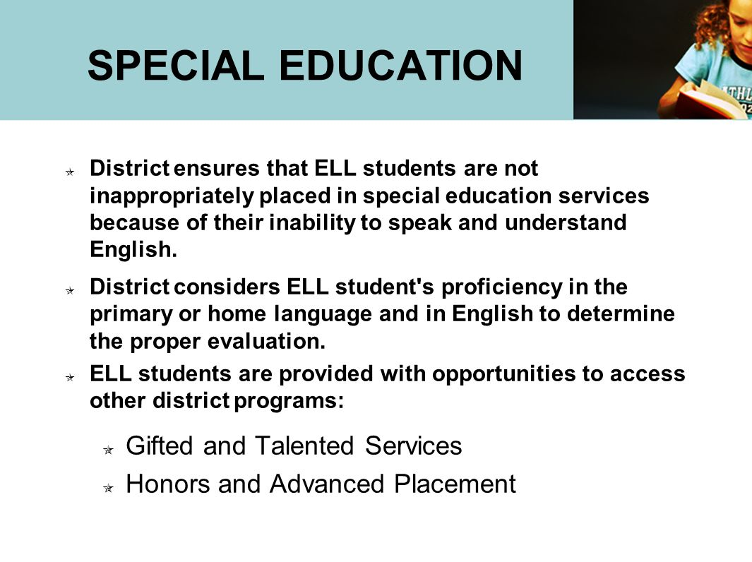 SPECIAL EDUCATION Gifted and Talented Services