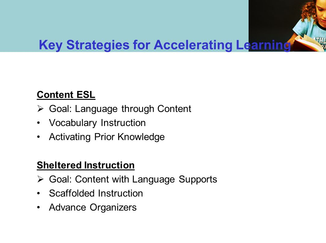 Key Strategies for Accelerating Learning