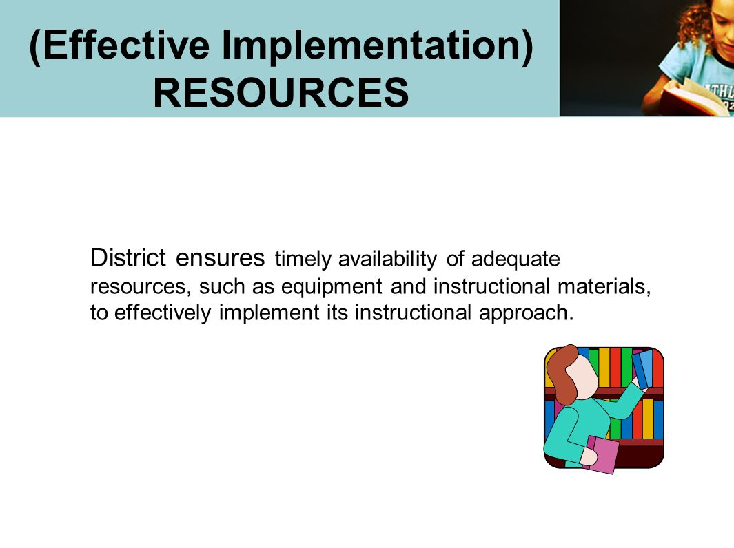 (Effective Implementation) RESOURCES