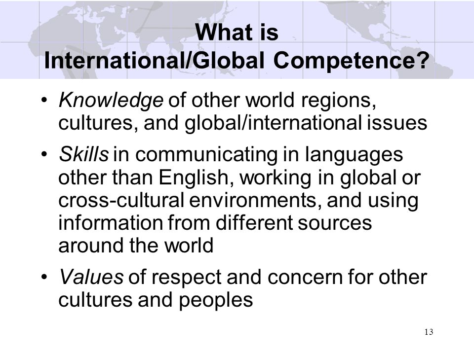 What is International/Global Competence
