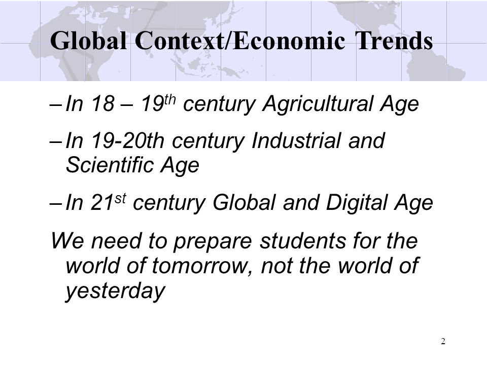 Global Context/Economic Trends