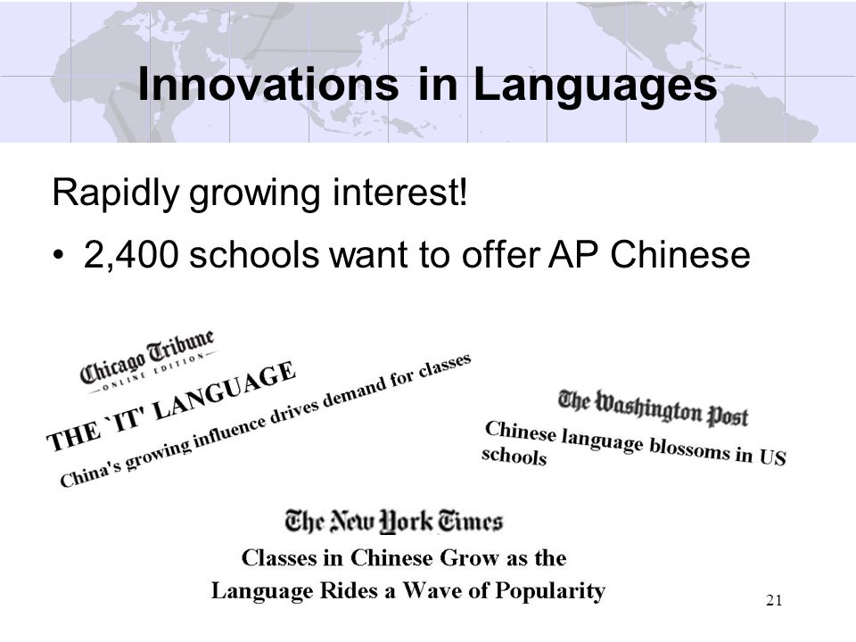 Innovations in Languages