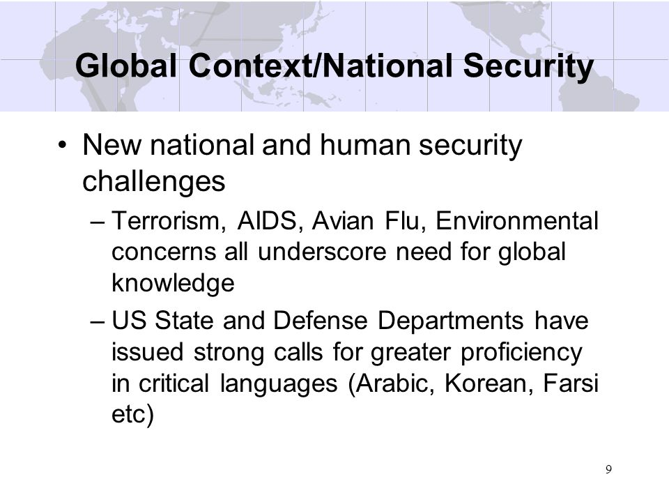 Global Context/National Security