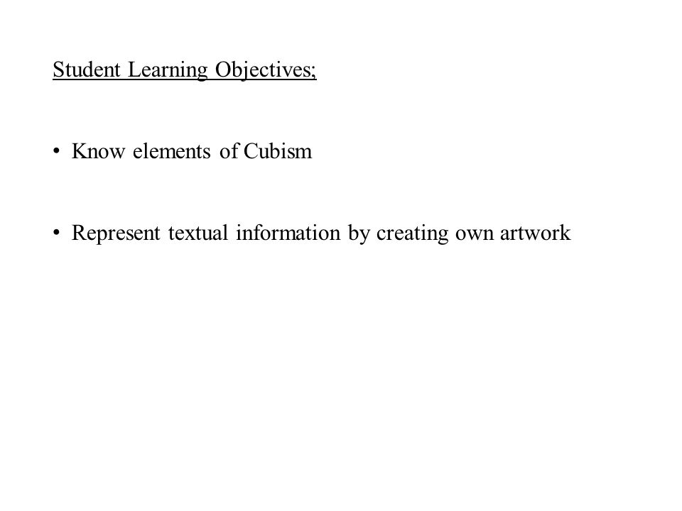 Student Learning Objectives;