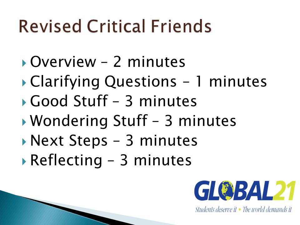 Revised Critical Friends