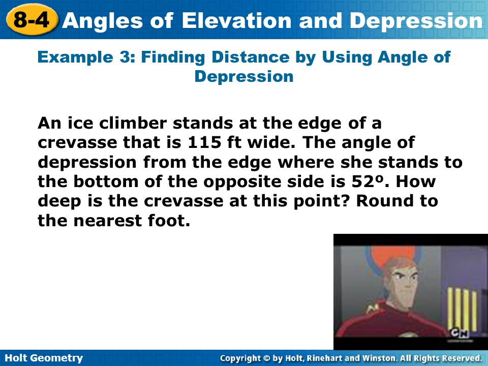 Example 3: Finding Distance by Using Angle of Depression