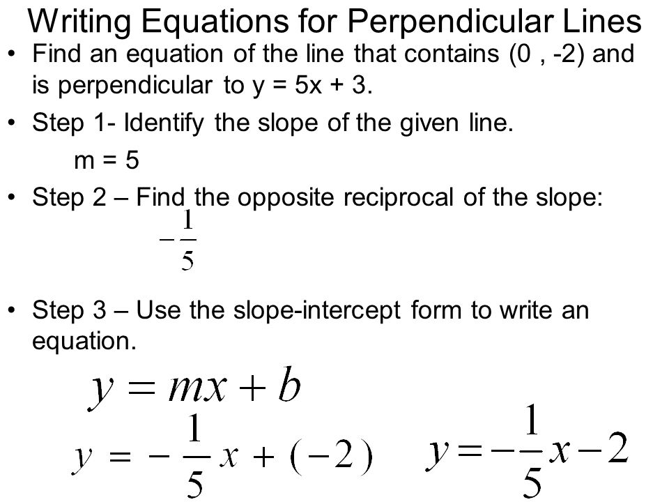 write an equation of the line containing the given points