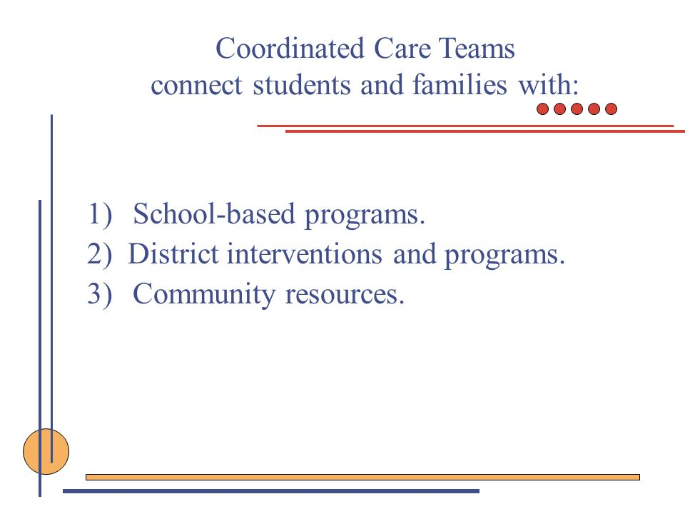 Coordinated Care Teams connect students and families with: