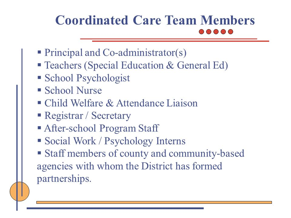 Coordinated Care Team Members