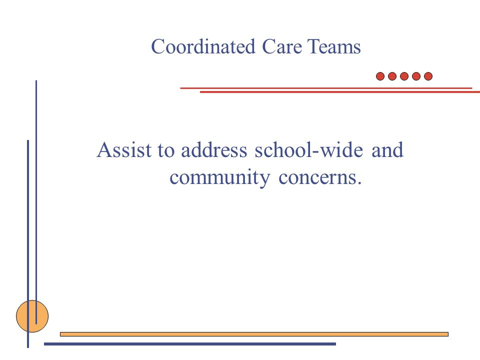 Assist to address school-wide and community concerns.