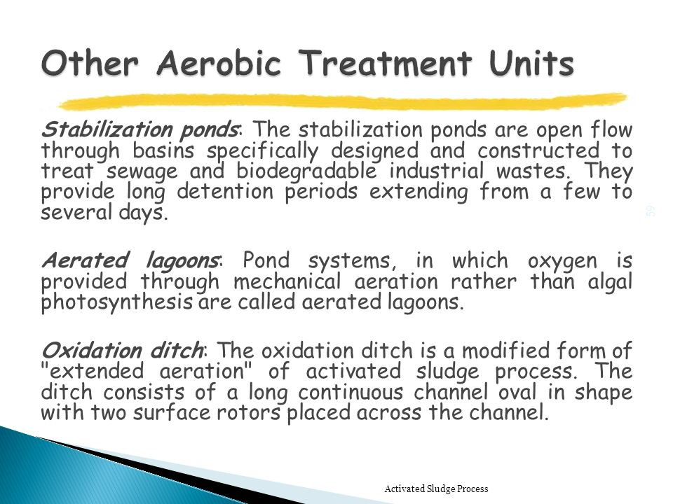 Biological wastewater treatment ppt video online download for Design criteria of oxidation pond