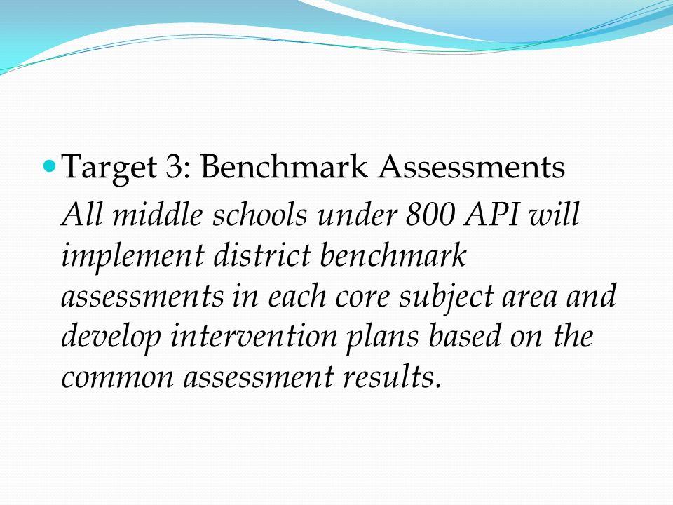 Target 3: Benchmark Assessments