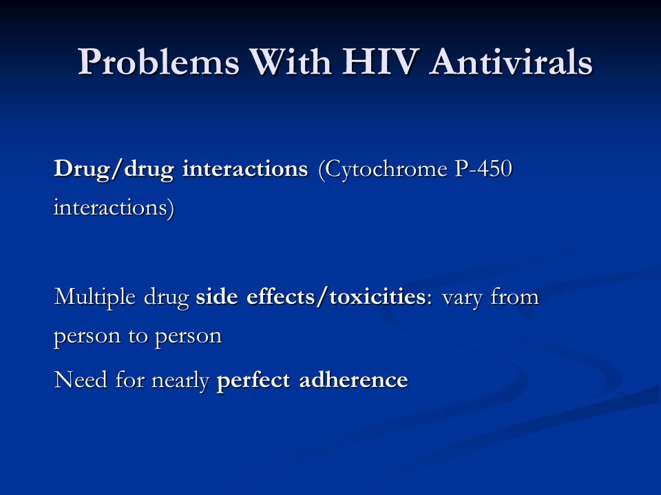 Problems With HIV Antivirals