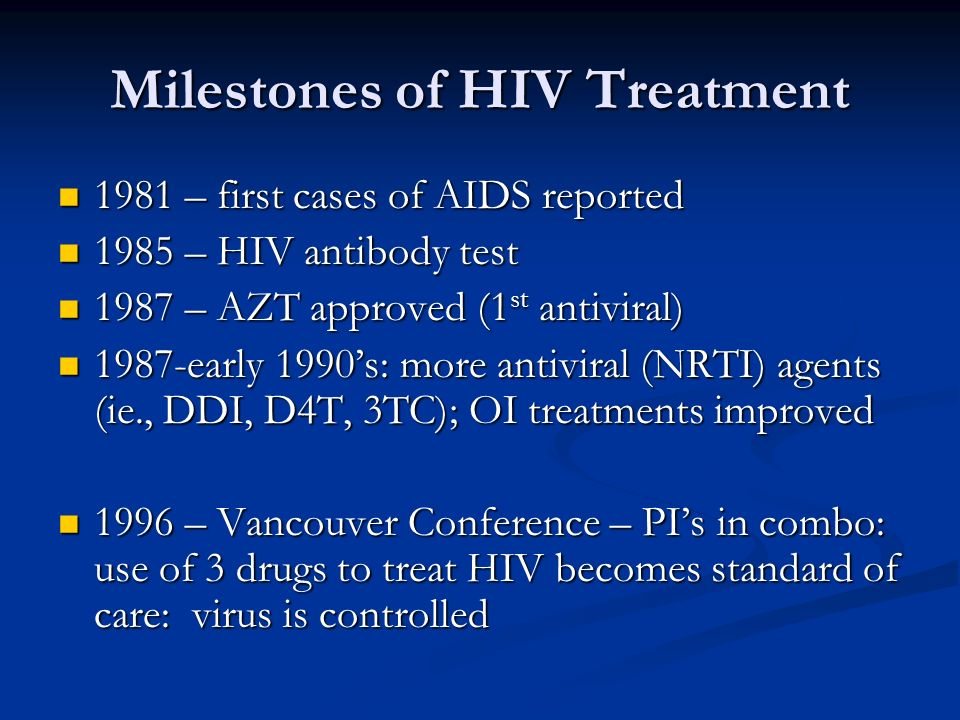Milestones of HIV Treatment