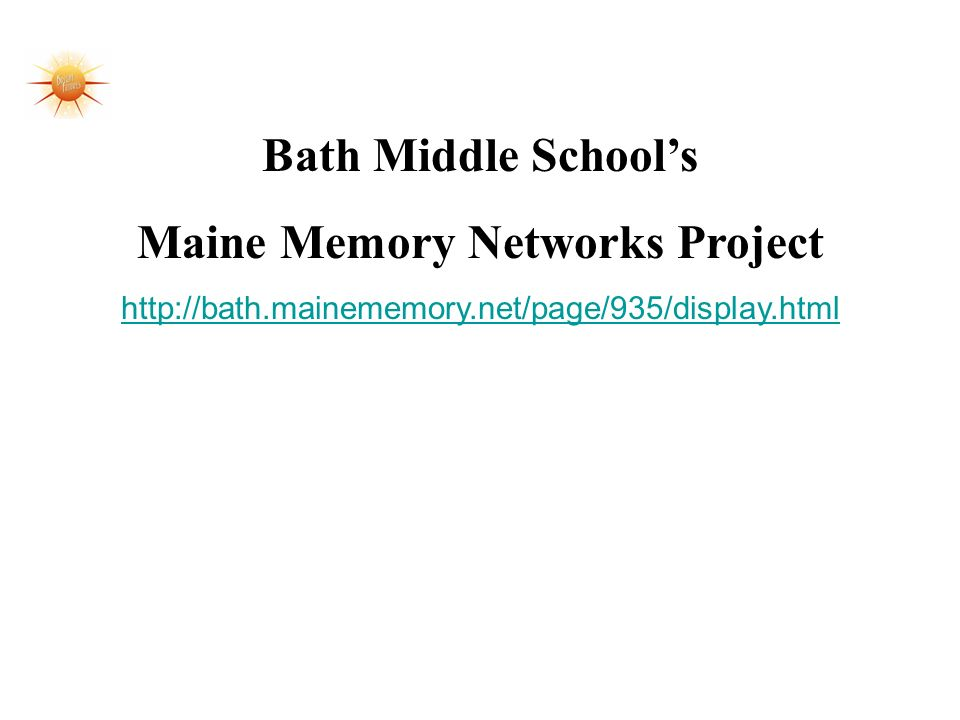 Maine Memory Networks Project