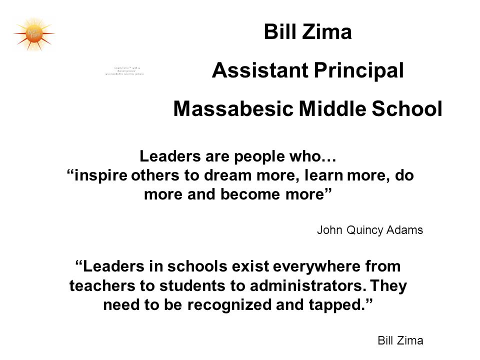 Massabesic Middle School Leaders are people who…