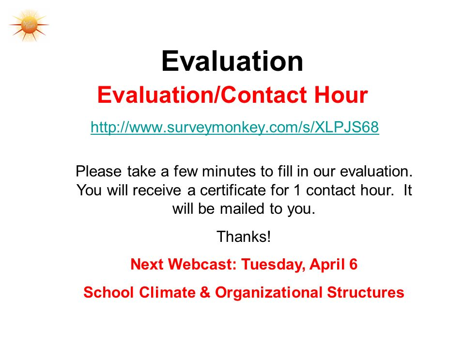 Evaluation Evaluation/Contact Hour