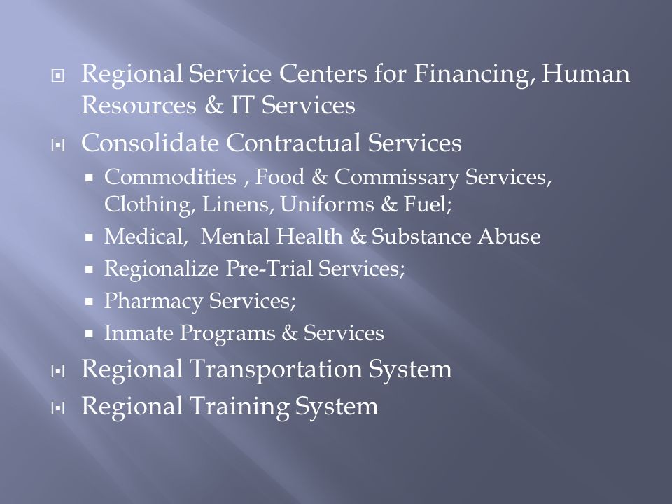 Regional Service Centers for Financing, Human Resources & IT Services