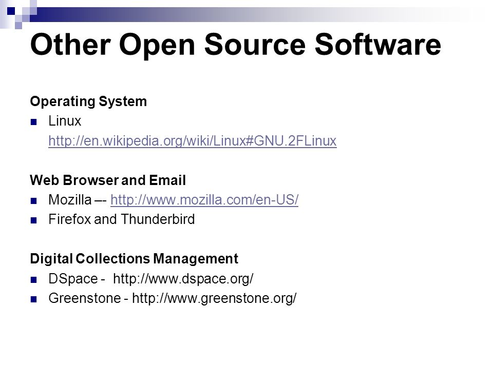 Other Open Source Software