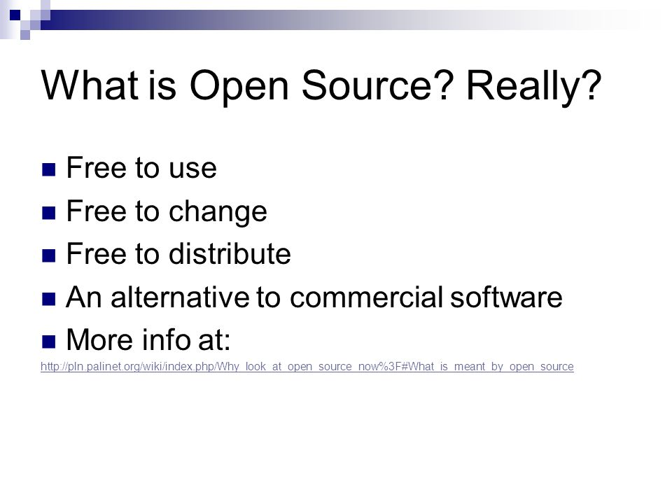What is Open Source Really