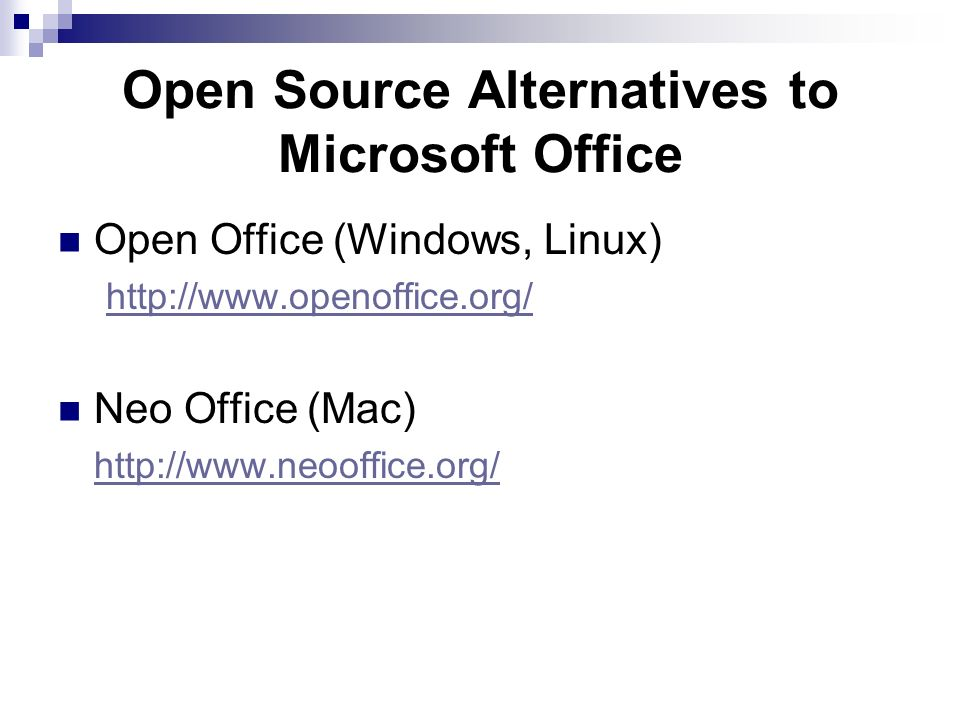 Open Source Alternatives to Microsoft Office
