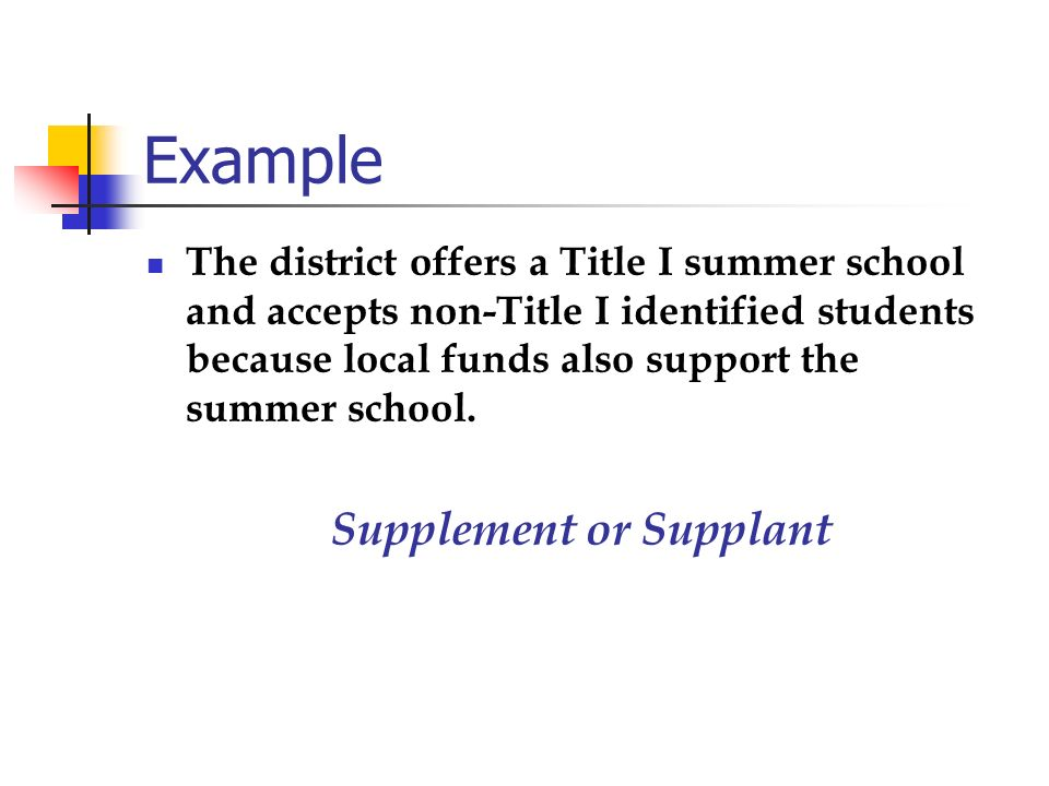 Supplement or Supplant