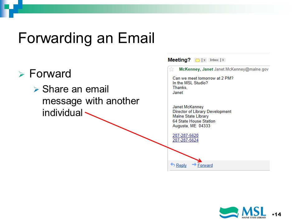 Forwarding an Email Forward